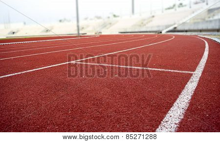 Athletics Stadium Running track curve
