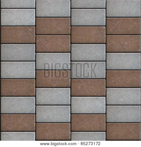 Paving Consisting of  Rectangles Laid Out in a Chaotic Manner. Seamless Tileable Texture. poster