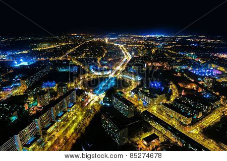 Night Panorama Of Wroclaw