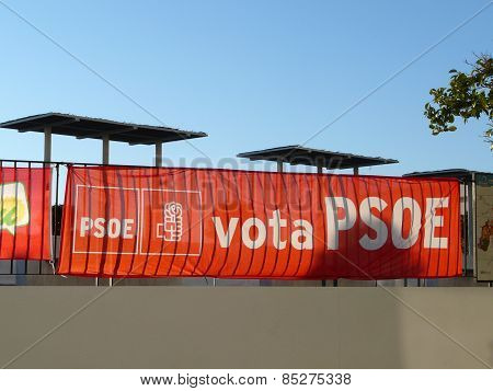 Election posters and banners