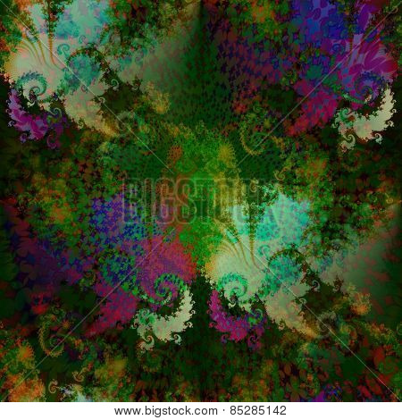 Abstract fantasy soft fractal psychedelic background