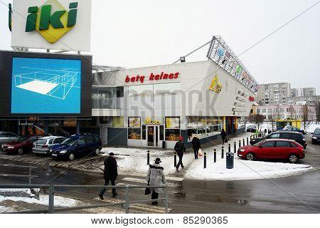 Iki Shop In The Vilnius City Fabijoniskes District