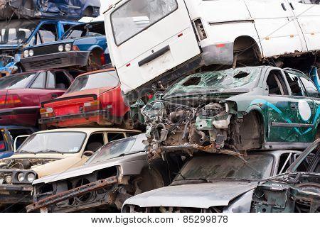 Cars In Junkyard