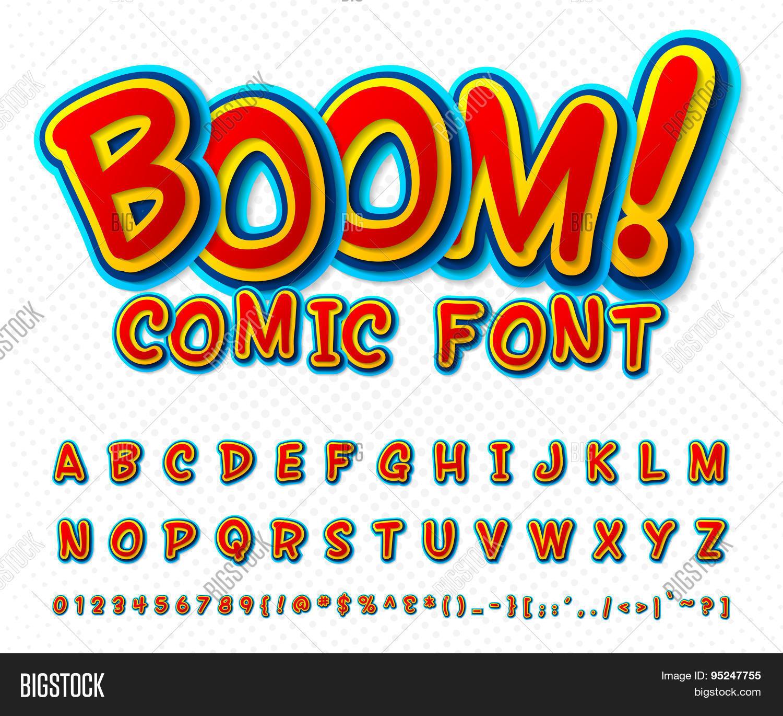 Creative Comic Font  Vector & Photo (Free Trial) | Bigstock