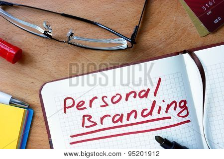Notepad with Personal Branding.