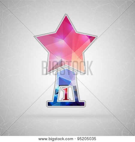 Abstract Creative concept vector icon of statuette. For Web and Mobile applications isolated on back