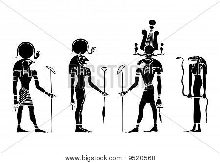 Vector Gods Of Ancient Egypt