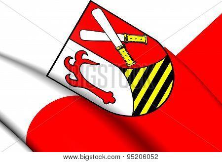 Flag Of Quedlinburg Landkreis, Germany.