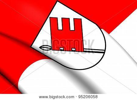 Flag Of Tuebingen Landkreis, Germany.