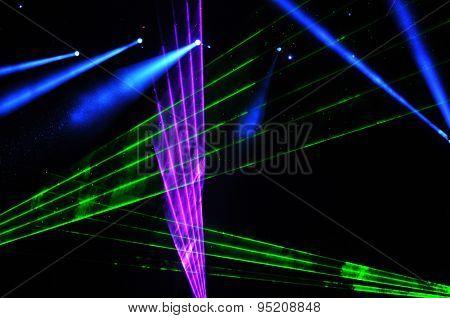 Laser show at a live concert