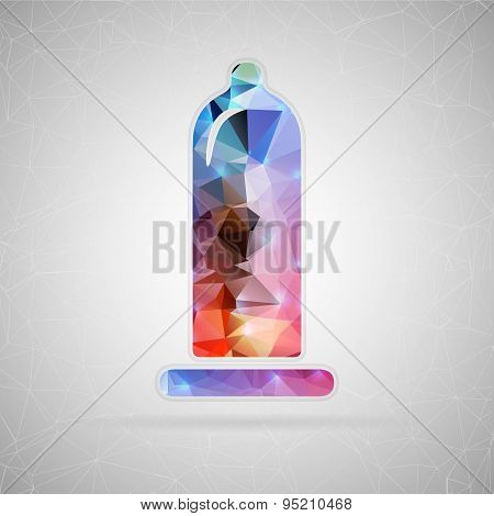 Abstract creative concept vector icon of condom. For web and mobile content isolated on background,