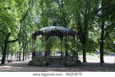 Public Park In Nancy With A Bandstand