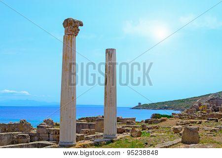Tharros Columns On A Clear Day