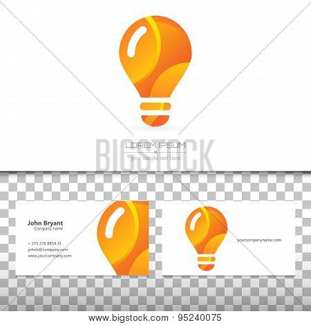 Abstract Creative concept vector image logo of bulb for web and mobile applications isolated on back