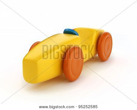 Wooden toy wheel car
