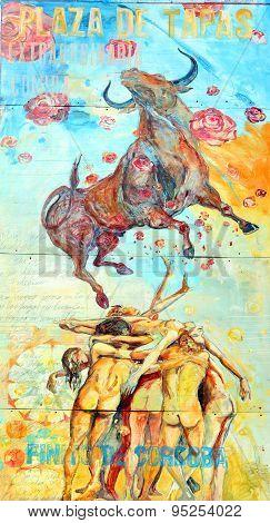 Street art Montreal bull