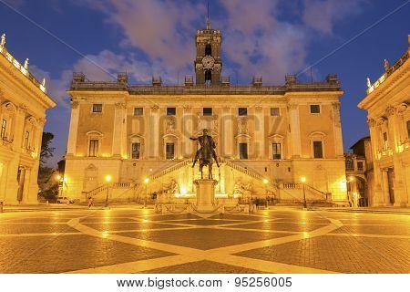 Piazza Del Campidoglio In Rome, Italy