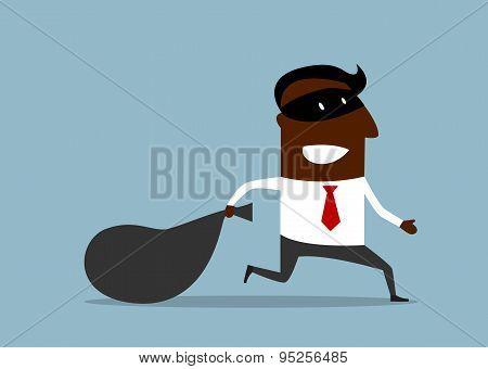 Businessman flees with stolen bag