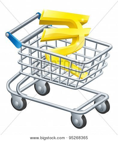 Rupee Currency Shopping Cart