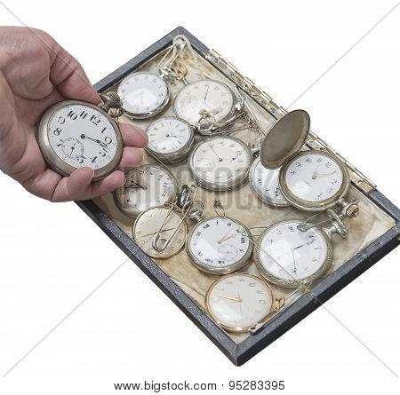 Clockwork Old Pocket Watch