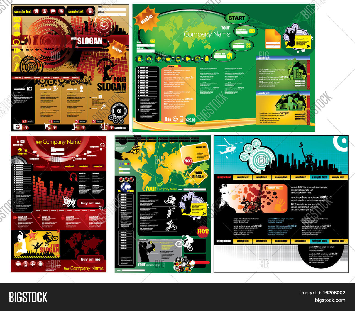Modern Web Page Vector Photo Free Trial Bigstock
