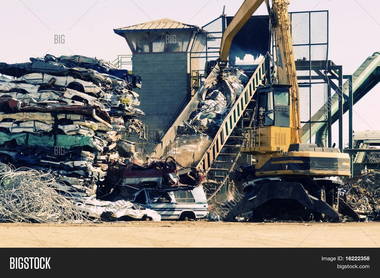 Scrap Metal Junk Yard, Giant Crane Image & Photo | Bigstock