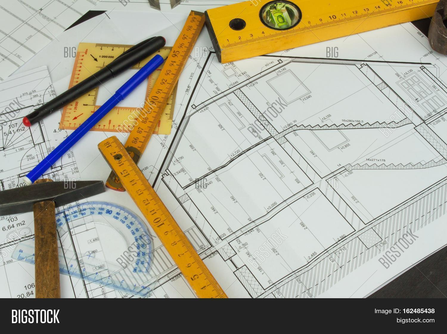 Desk Project Image Photo Free Trial Bigstock Schematic Supervisor Plans Of Building Architectural Floor Plan Designed On