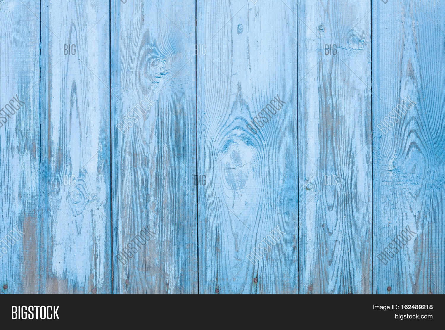 Natural Rustic Old Wood Board Wall Shabby Blue Color Background Wooden Vintage Style Texture