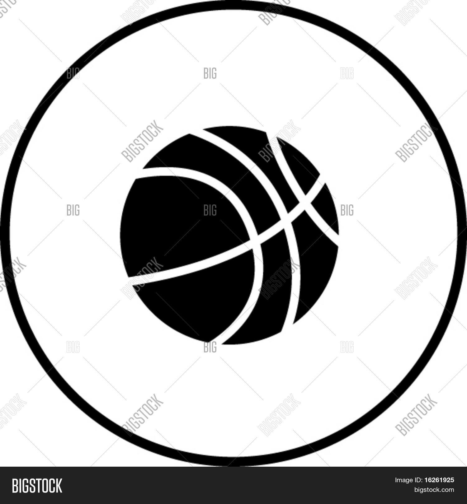 basketball symbol vector amp photo bigstock