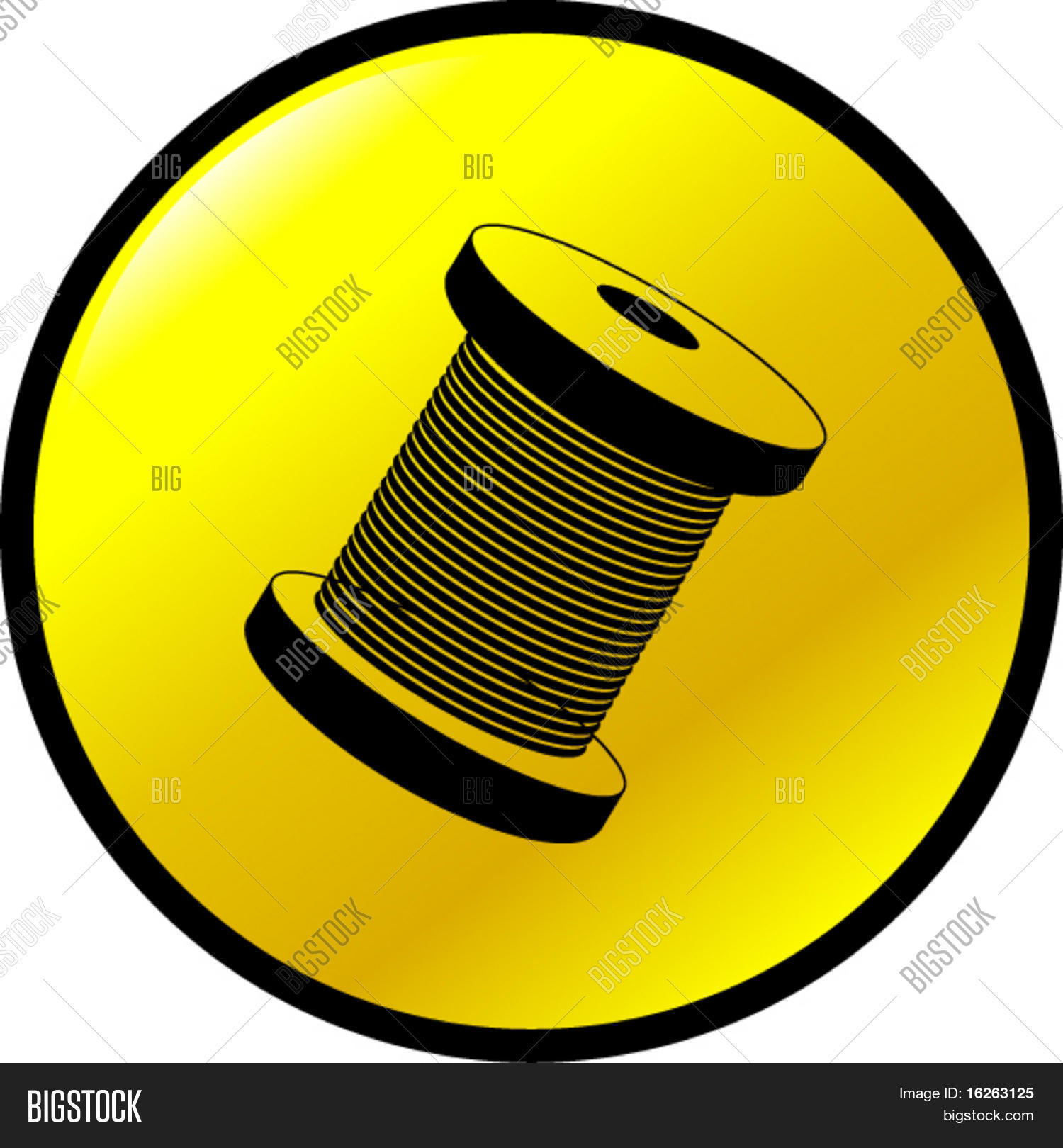 Thread Cable Spool Vector & Photo (Free Trial) | Bigstock