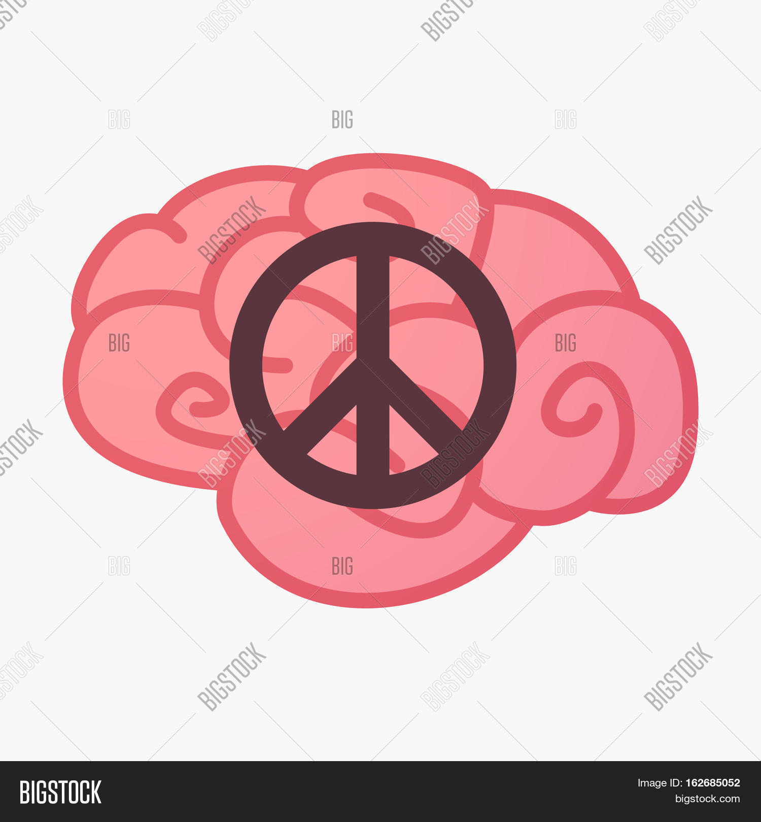 Isolated Brain Peace Vector Photo Free Trial Bigstock