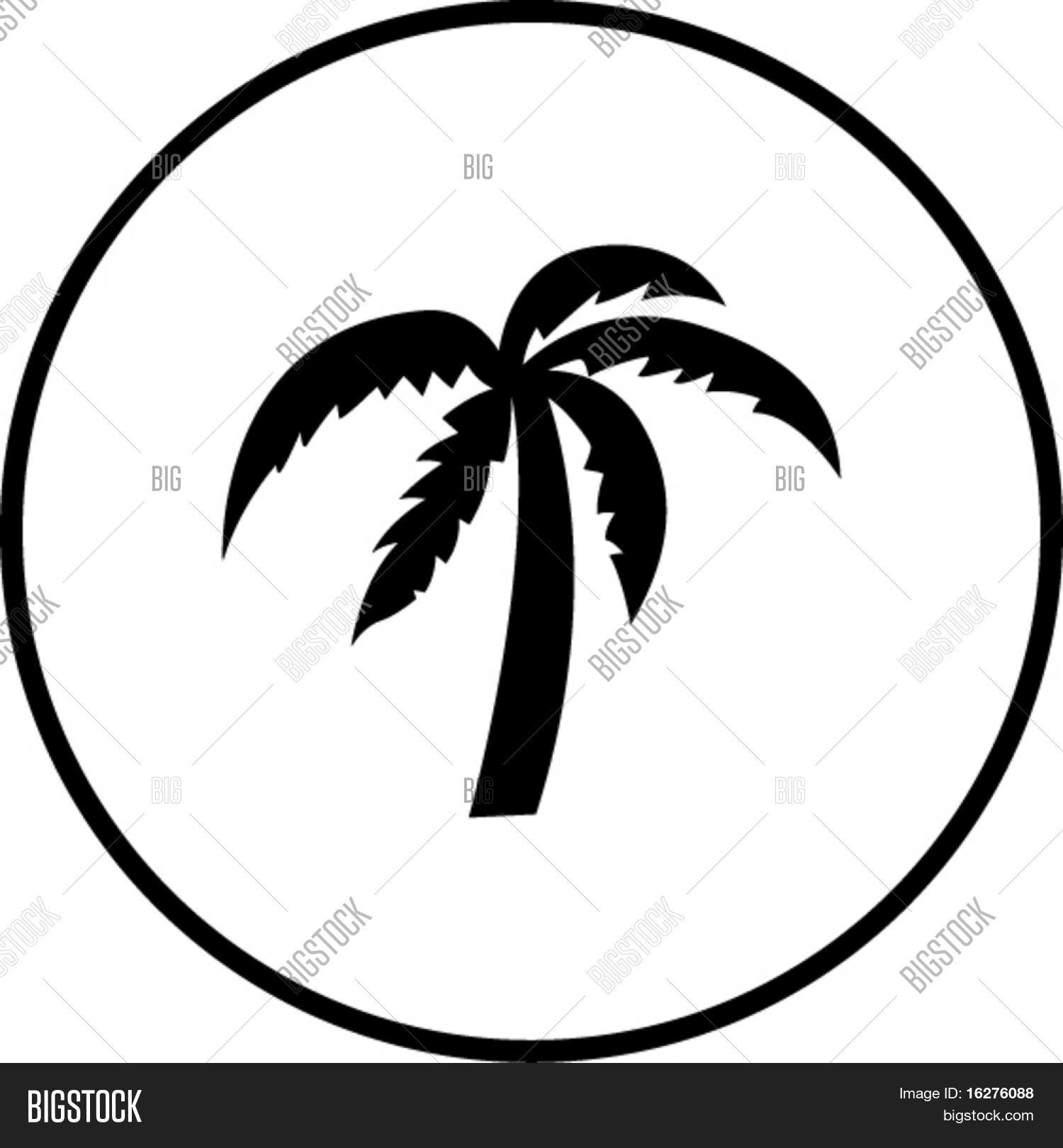 Palm Tree Symbol Vector Photo Free Trial Bigstock