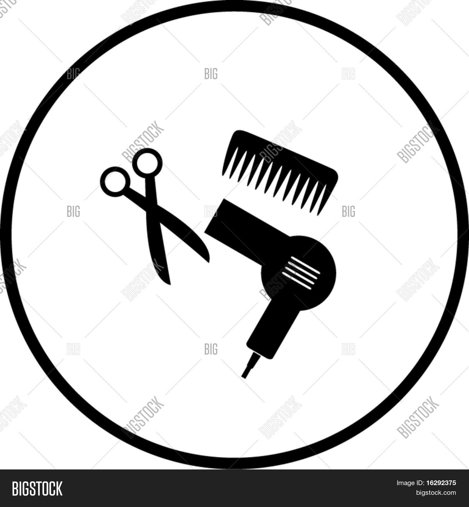 Haircut Hair Salon Vector Photo Free Trial Bigstock