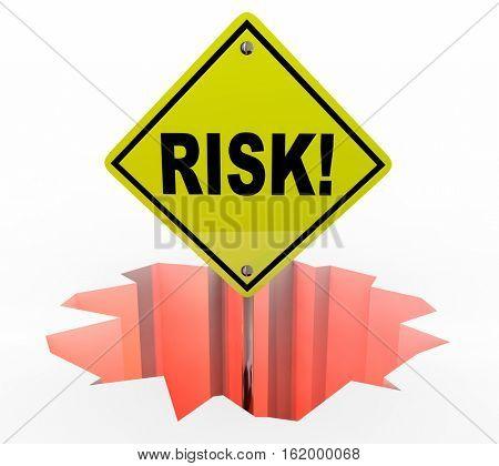 Risk Liability Danger Warning Sign Protection Prevention 3d Illustration