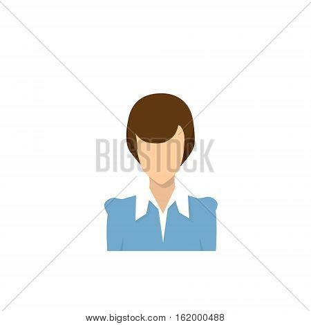 Profile Icon Female Avatar, Woman Cartoon Portrait, Casual Person Silhouette Face Flat Vector Illustration