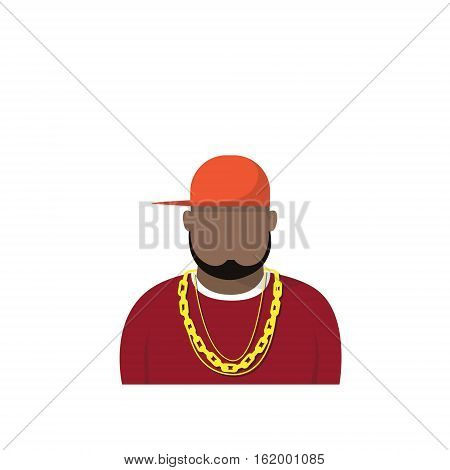 Profile Icon Male Avatar Man, African American Cartoon Guy Portrait, Casual Person Silhouette Face Flat Vector Illustration