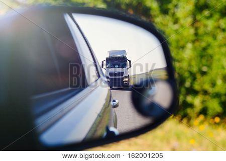 White Tanker Truck On The Highway