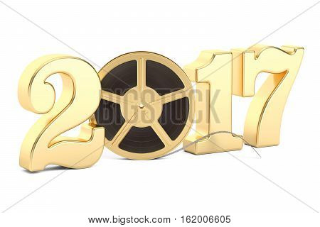 2017 cinema production concept 3D rendering isolated on white background