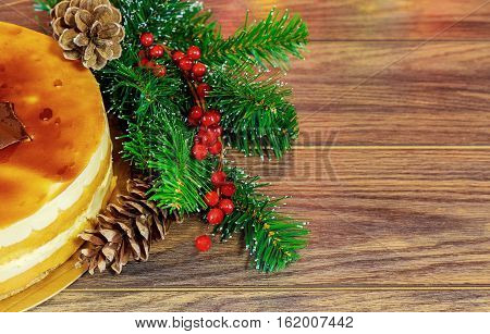 Cake Of The Whipped White, Christmas Decorations,