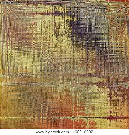 Tinted vintage texture, aged decorative grunge background with traditional antique elements and different color patterns: yellow (beige); brown; gray; red (orange)