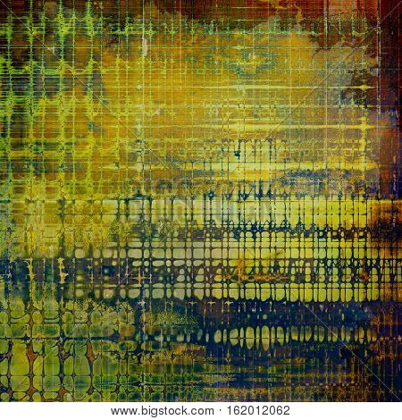 Scratched vintage colorful background, designed grunge texture. With different color patterns: yellow (beige); brown; green; blue; red (orange); purple (violet)