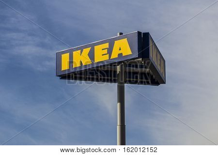 Las Vegas - Circa December 2016: IKEA Home Furnishings Store. Founded in Sweden IKEA is the world's largest furniture retailer I