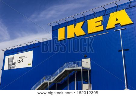 Las Vegas - Circa December 2016: IKEA Home Furnishings Store. Founded in Sweden IKEA is the world's largest furniture retailer III