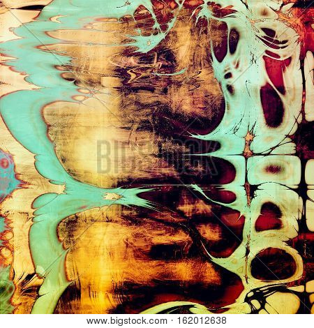 Background with grunge elements on vintage style old texture. With different color patterns: yellow (beige); brown; blue; red (orange); purple (violet); black