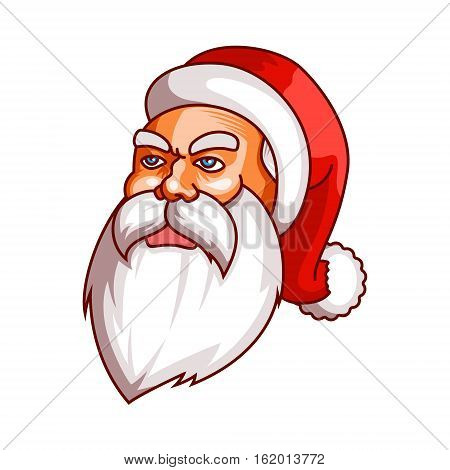 Santa claus emotions. Grudge, unhappiness, resentment. Part of christmas set. Ready for print EPS10