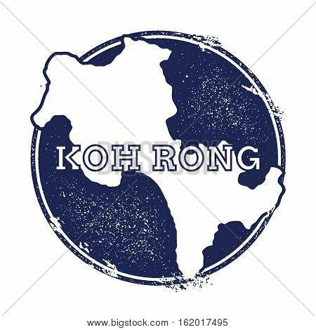 Koh Rong Vector Map. Grunge Rubber Stamp With The Name And Map Of Island, Vector Illustration. Can B