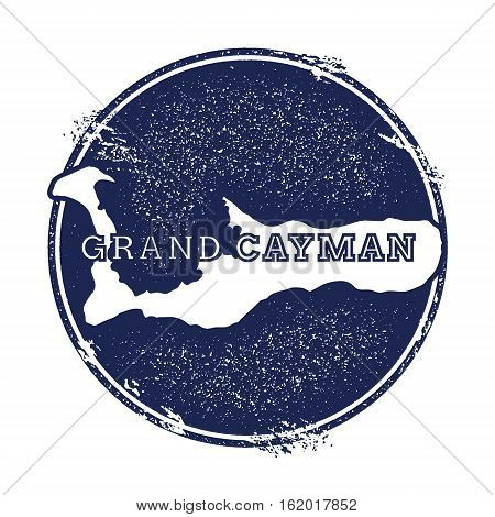 Grand Cayman Vector Map. Grunge Rubber Stamp With The Name And Map Of Island, Vector Illustration. C