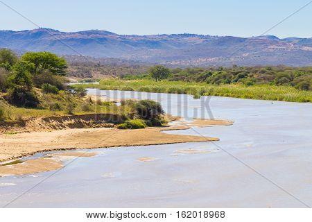 White Umfolozi Panorama From Viewpoint, Hluhluwe–umfolozi Game Reserve