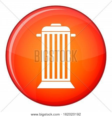 Street trash icon in red circle isolated on white background vector illustration