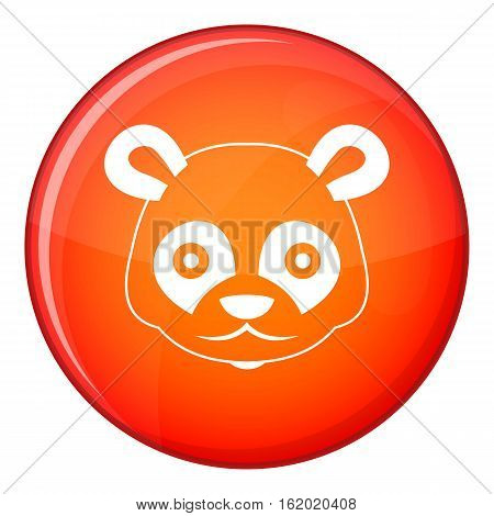 Head of panda icon in red circle isolated on white background vector illustration